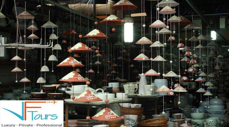 bat trang pottery market