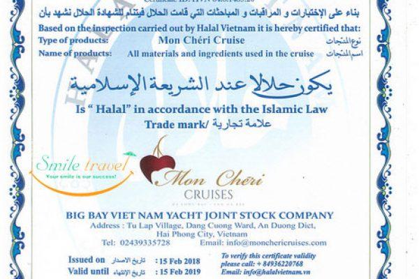 Halal Cruises in Halong Bay- Mon Chéri Cruises