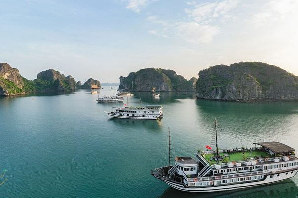 Swan Cruises in Bai Tu Long Bay- Halong Bay- Vietnam